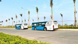 xe bus đưa rước khách hàng xem dự án Waterpoint